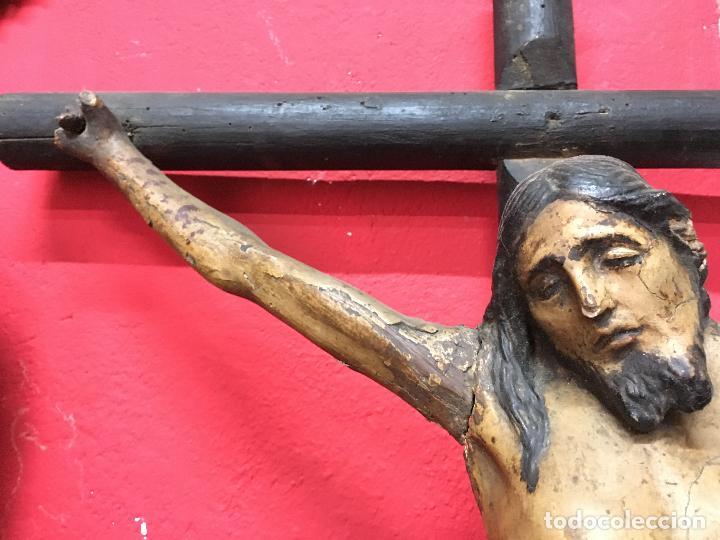 Arte: FANTASTICA TALLA MADERA CRISTO CRUCIFICADO SIGLO XVI ESCUELA CASTELLANA - MEDIDA CRISTO 67X51 CM - Foto 14 - 121451023