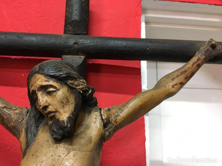 Arte: FANTASTICA TALLA MADERA CRISTO CRUCIFICADO SIGLO XVI ESCUELA CASTELLANA - MEDIDA CRISTO 67X51 CM - Foto 15 - 121451023