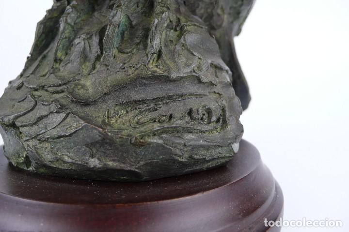 Arte: Jaume Cases - Escultura de bronce macizo Búho de la suerte - Firmada - Obra única, Obra Original - Foto 3 - 121533247