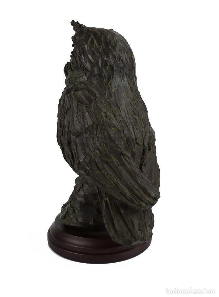Arte: Jaume Cases - Escultura de bronce macizo Búho de la suerte - Firmada - Obra única, Obra Original - Foto 4 - 121533247