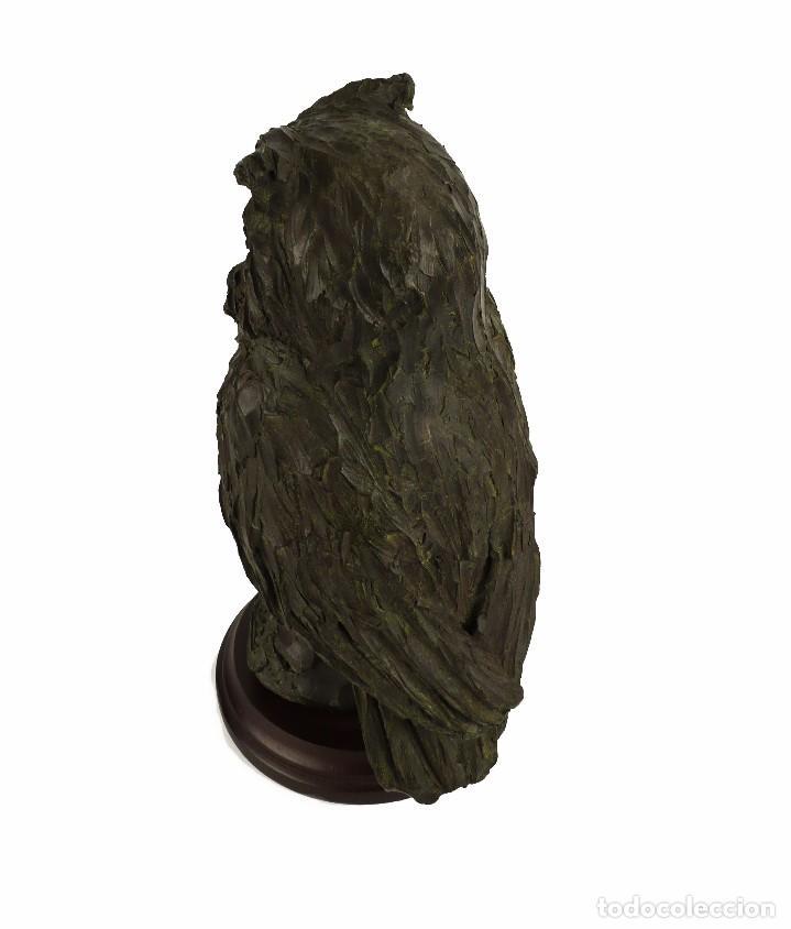 Arte: Jaume Cases - Escultura de bronce macizo Búho de la suerte - Firmada - Obra única, Obra Original - Foto 7 - 121533247