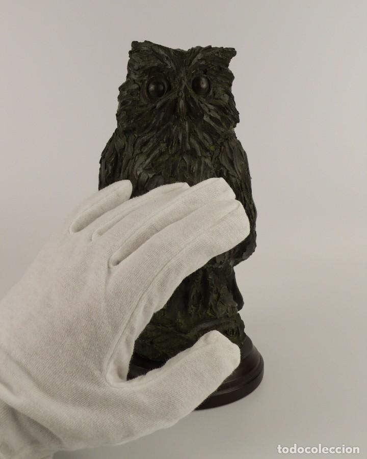 Arte: Jaume Cases - Escultura de bronce macizo Búho de la suerte - Firmada - Obra única, Obra Original - Foto 8 - 121533247