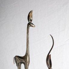 Arte: FIGURAS ANTÍLOPES DE METAL. ÁFRICA AÑOS 80. Lote 121936115