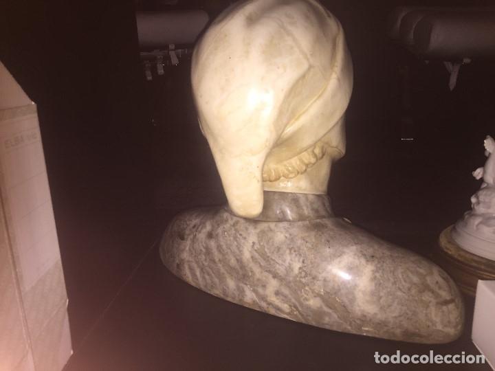 Arte: Busto en marmol de Dante, medidas aprox 42cms de ancho x 40 cms de alto - Foto 2 - 120131499