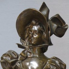 Arte: GRAN BUSTO DE MUJER BRONCE PATINADO. ART NOUVEAU. GEORGES CHARLES COUDRAY (FRENCH, 1883-1903). Lote 122100691