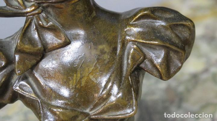 Arte: GRAN BUSTO DE MUJER BRONCE PATINADO. ART NOUVEAU. Georges Charles Coudray (French, 1883-1903) - Foto 2 - 122100691