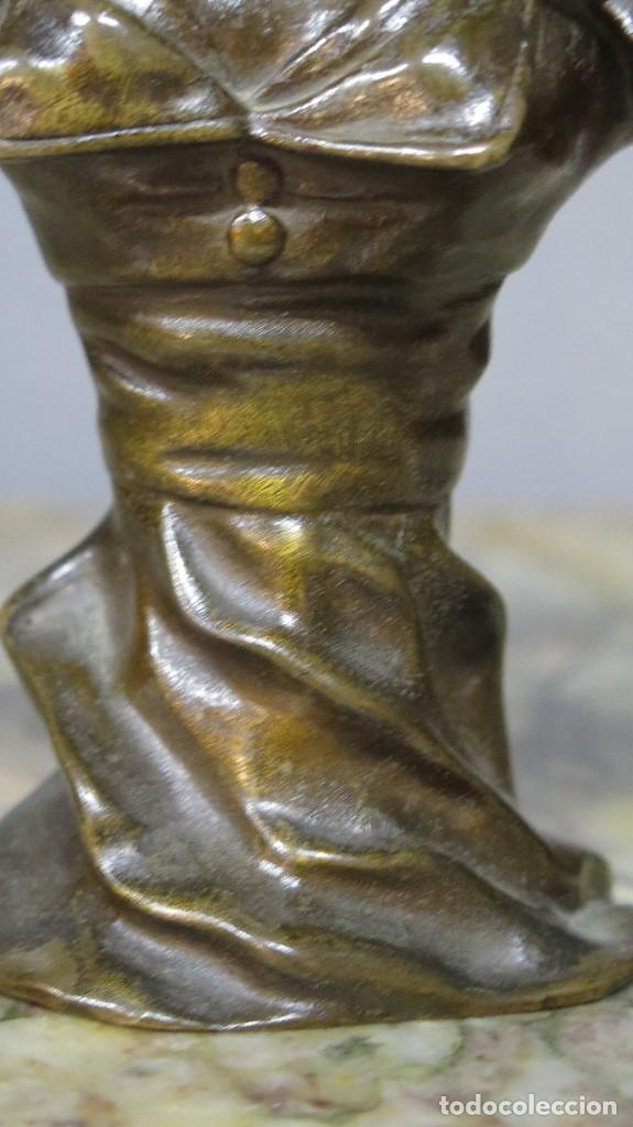 Arte: GRAN BUSTO DE MUJER BRONCE PATINADO. ART NOUVEAU. Georges Charles Coudray (French, 1883-1903) - Foto 5 - 122100691