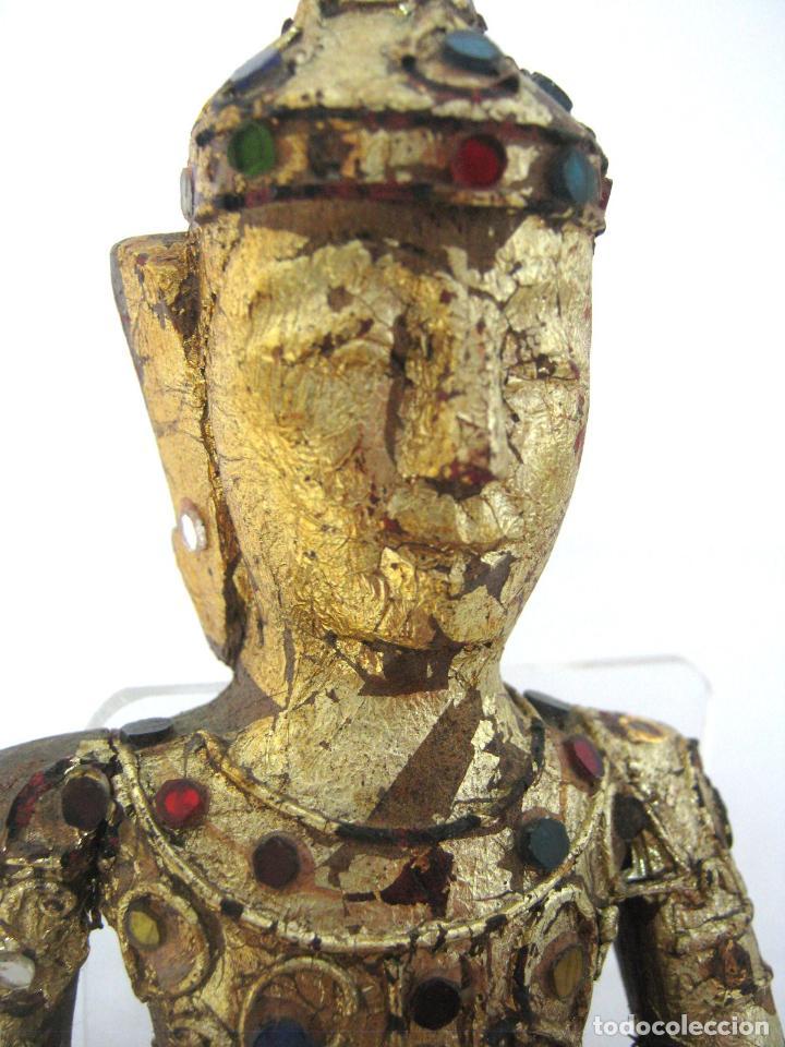 Arte: Buda Shiva - talla de madera dorada - filigrana con cristales - Foto 2 - 122305391