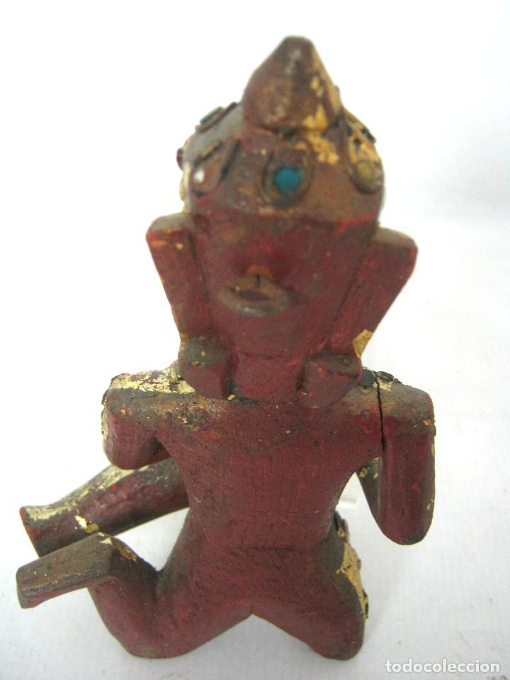 Arte: Buda Shiva - talla de madera dorada - filigrana con cristales - Foto 3 - 122305391