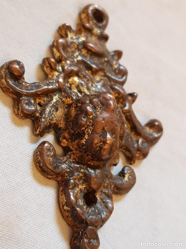 Arte: Aplique bronce y ángel. Siglo XVII-XVIII - Foto 4 - 122311811