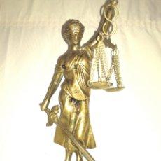 Arte: ANTIGUA DAMA DE LA JUSTICIA BRONCE.. Lote 122910867