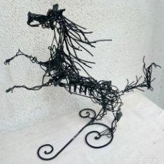 Arte: ESPECTACULAR ESCULTURA DE CABALLO DE BONI GUARJOL, ARTE CONTEMPORÁNEO.67X60X38CM. Lote 123552847