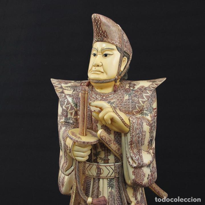 Arte: Samurái de pie 54cm de marfil (esab1116/05i) - Foto 2 - 124595271