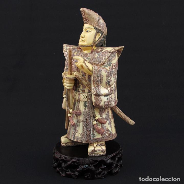 Arte: Samurái de pie 54cm de marfil (esab1116/05i) - Foto 3 - 124595271