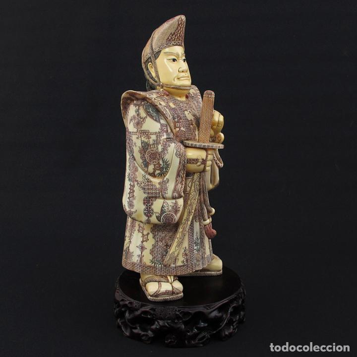 Arte: Samurái de pie 54cm de marfil (esab1116/05i) - Foto 4 - 124595271