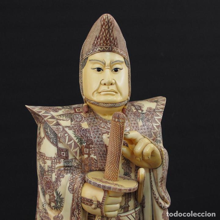 Arte: Samurái de pie 54cm de marfil (esab1116/05i) - Foto 6 - 124595271