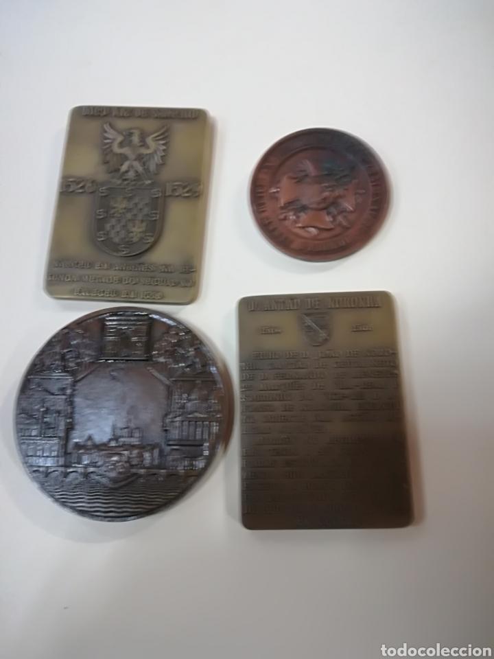Arte: 4 medallas de bronce comemorativas - Foto 2 - 124930751