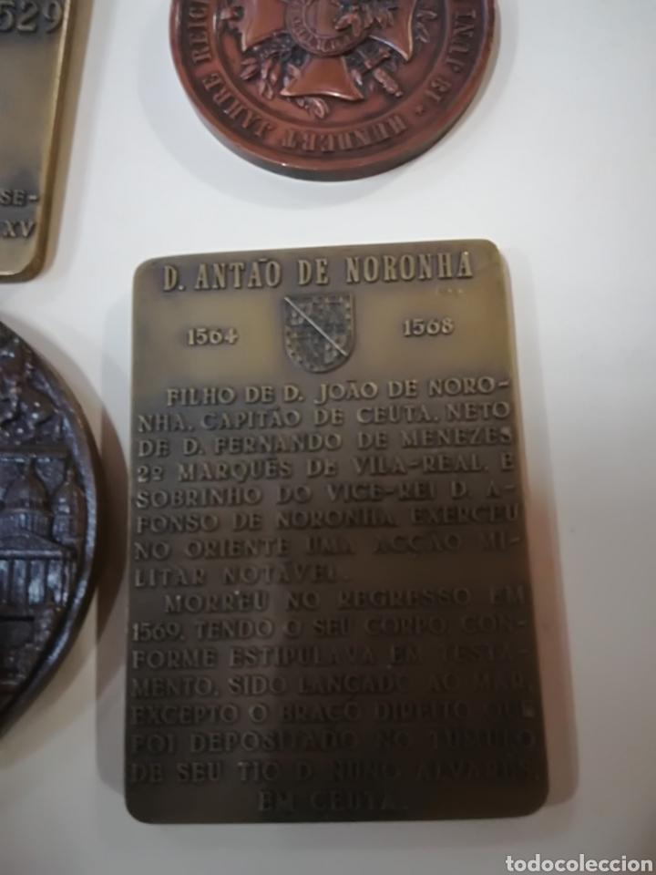 Arte: 4 medallas de bronce comemorativas - Foto 3 - 124930751