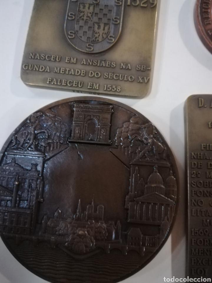 Arte: 4 medallas de bronce comemorativas - Foto 4 - 124930751