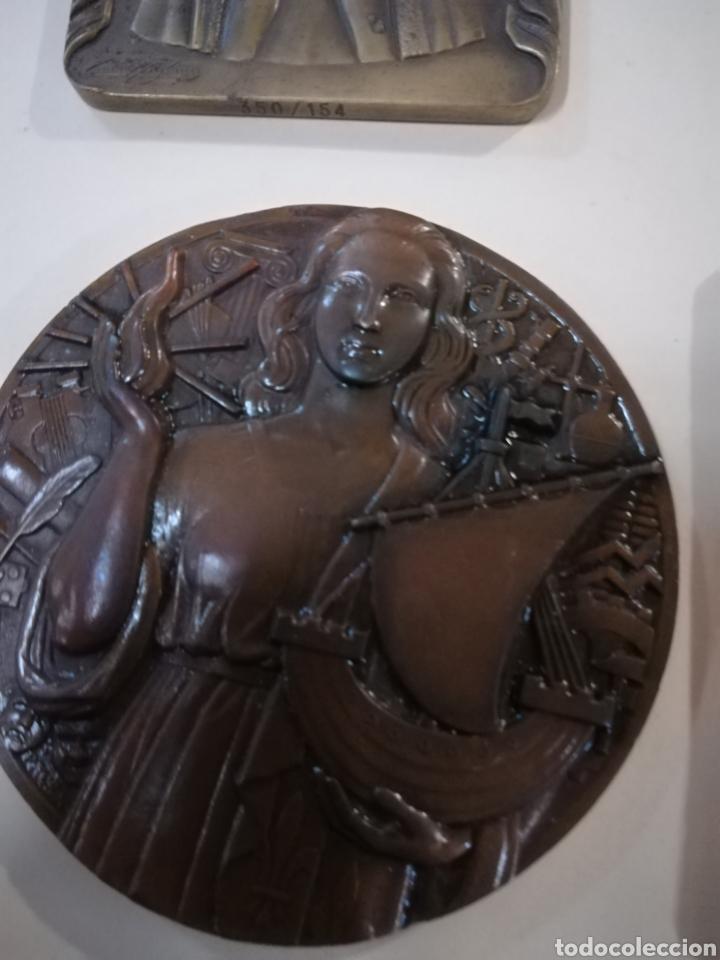 Arte: 4 medallas de bronce comemorativas - Foto 8 - 124930751