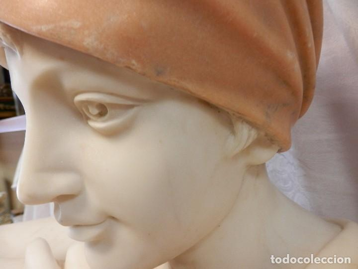 Arte: GRAN ESCULTURA, BUSTO, MARMOL, MODERNISTA, REBECCA AU PUITS, REBECA EN EL POZO , 65 X 45 CM - Foto 21 - 125015955