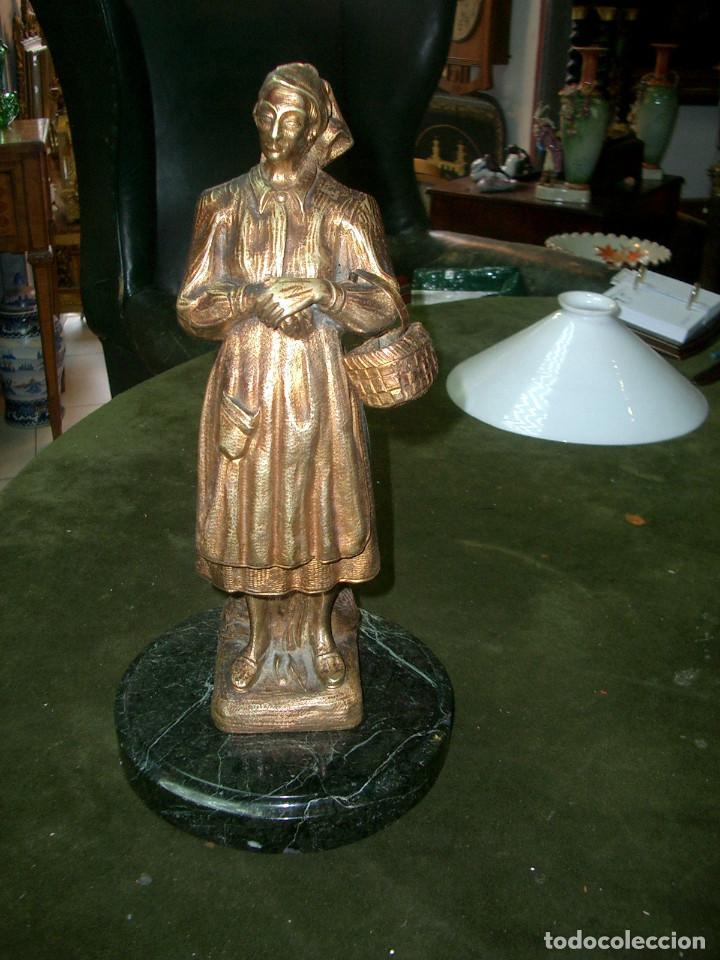 ESCULTURA EN BRONCE, GALLEGA, SIN FIRMAR (Arte - Escultura - Bronce)