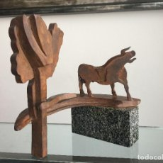 Arte: GABRIEL CRUZ MARCOS , ESCULTURA ORIGINAL Y ÚNICA EN HIERRO , TAUROMAQUIA , TOLEDO , SEVILLA. Lote 125423503