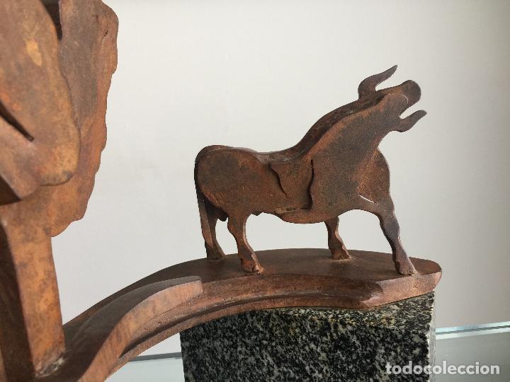Arte: GABRIEL CRUZ MARCOS , ESCULTURA ORIGINAL Y ÚNICA EN HIERRO , TAUROMAQUIA , TOLEDO , SEVILLA - Foto 5 - 125423503