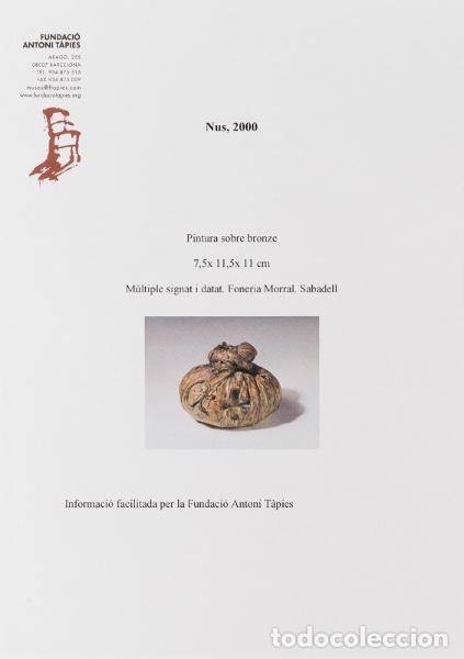 """Arte: TÀPIES PUIG, Antoni . """"Nus"""", 2000. Bronce. Firmada y fechada. Con certificado de la Fundación Tápies - Foto 7 - 125849543"""