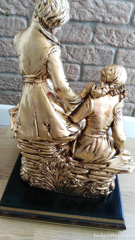 Arte: pareja de novios sentados sobre roca - - Foto 8 - 126105471