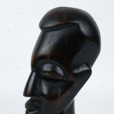 Arte: BUSTO AFRICANO EN MADERA TALLADA SIGLO XX. Lote 126579839