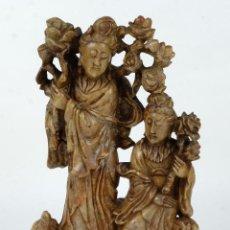 Art - Figura china en piedra jabonera siglo XX - 126579863
