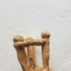 Arte: NIÑOS JUGANDO AL CORO BOCETO REALIZADO EN BARRO. Lote 126751439