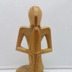 Arte: HERMOSA ANTIGUA ESCULTURA INDIA ABSTRACTA, MEDITACIÓN, TALLADA EN MADERA.. Lote 126757739