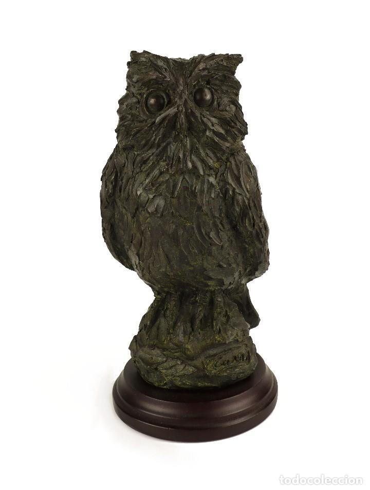 Arte: Jaume Cases - Escultura de bronce macizo Búho de la suerte - Firmada - Obra única, Obra Original - Foto 10 - 121533247
