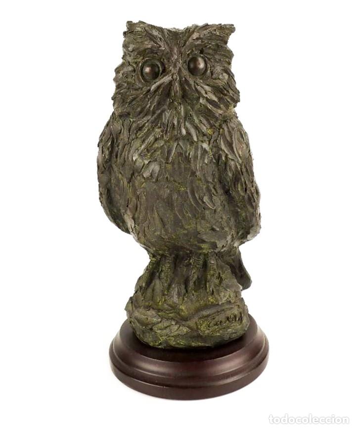 JAUME CASES - ESCULTURA DE BRONCE MACIZO BÚHO DE LA SUERTE - FIRMADA - OBRA ÚNICA, OBRA ORIGINAL (Arte - Escultura - Bronce)