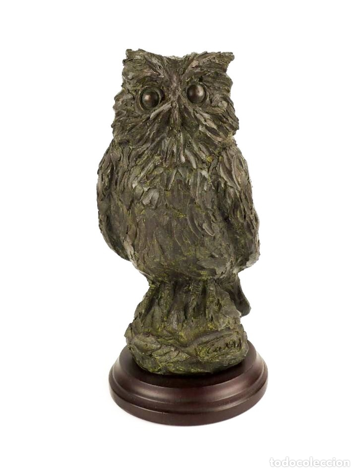 Arte: Jaume Cases - Escultura de bronce macizo Búho de la suerte - Firmada - Obra única, Obra Original - Foto 9 - 121533247