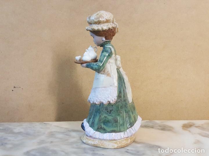 Arte: Figura porcelana Doncella: PORCELANA ARTÍSTICA LEVANTINA - Foto 3 - 127871887