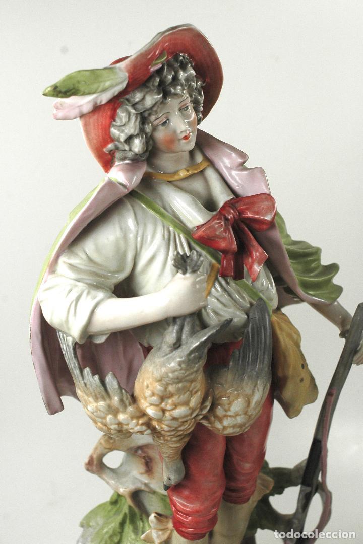Arte: Pareja figuras de porcelana, finales siglo XIX. - Foto 3 - 127921955