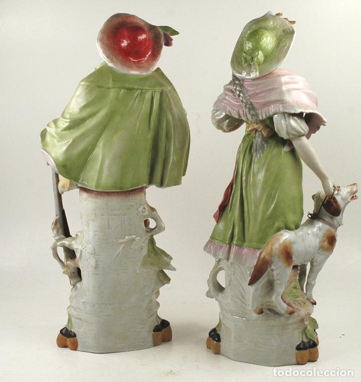 Arte: Pareja figuras de porcelana, finales siglo XIX. - Foto 6 - 127921955