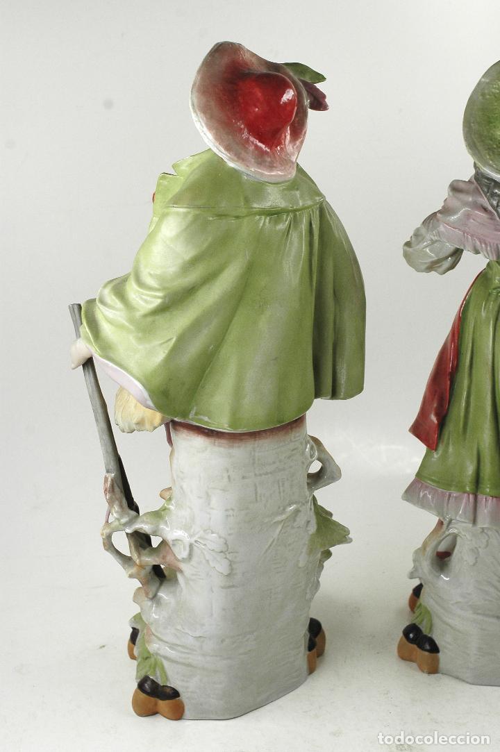 Arte: Pareja figuras de porcelana, finales siglo XIX. - Foto 7 - 127921955