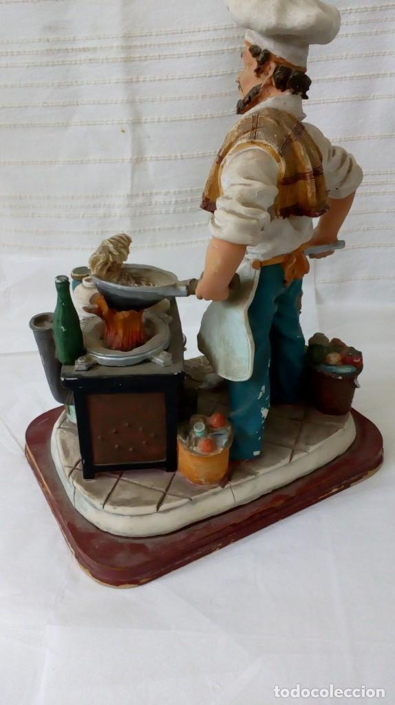 Arte: Figura de cocinero italiano en resina de Mike´s collection - Foto 2 - 127978819
