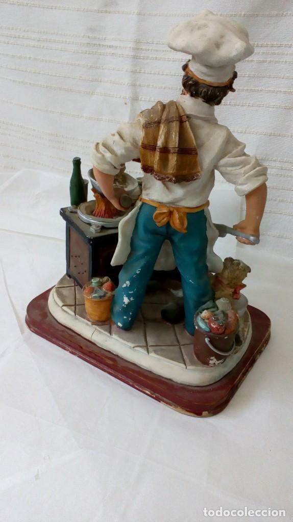 Arte: Figura de cocinero italiano en resina de Mike´s collection - Foto 3 - 127978819