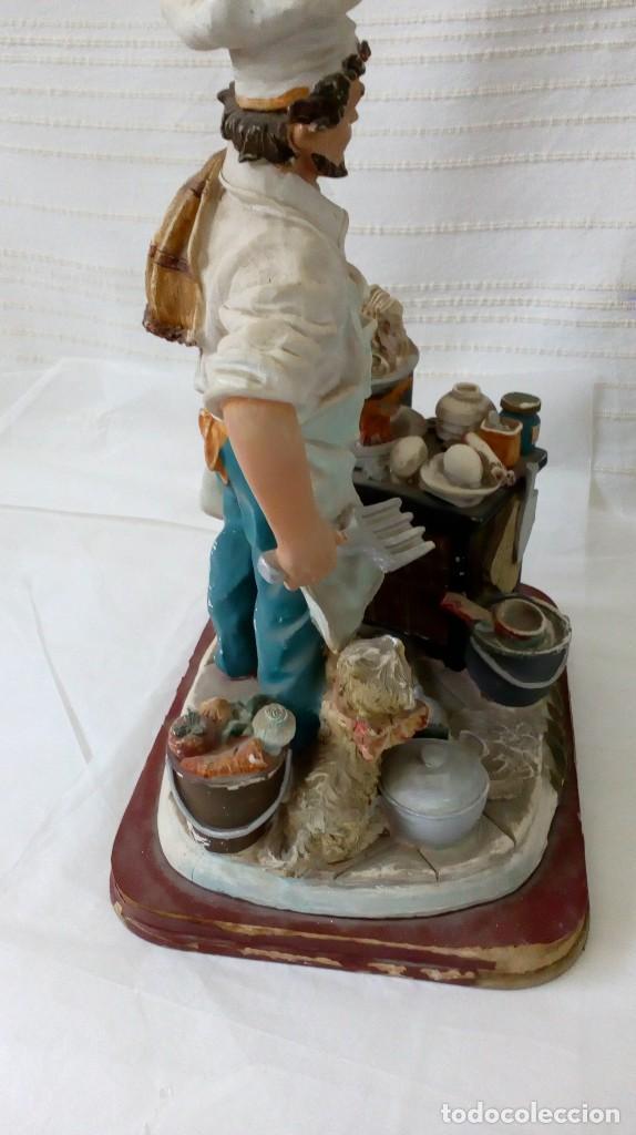 Arte: Figura de cocinero italiano en resina de Mike´s collection - Foto 4 - 127978819