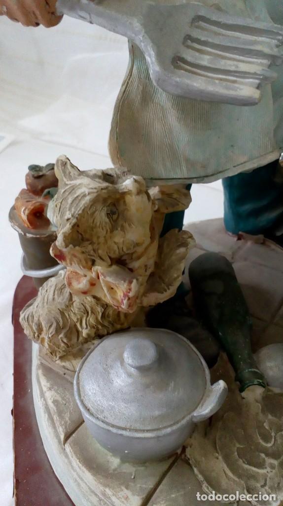 Arte: Figura de cocinero italiano en resina de Mike´s collection - Foto 5 - 127978819