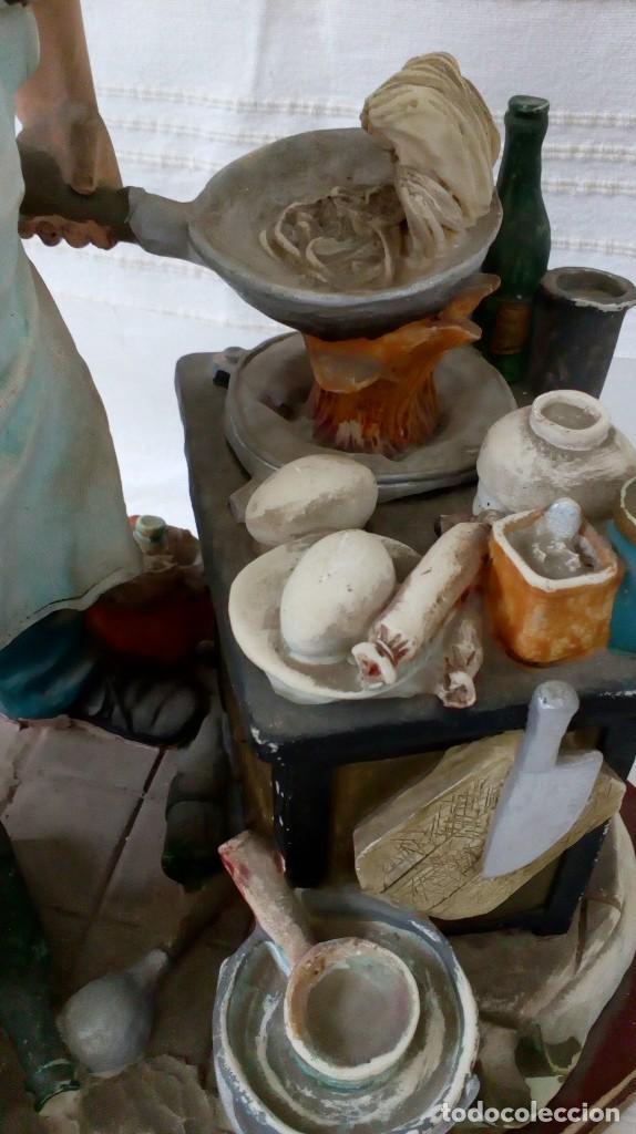 Arte: Figura de cocinero italiano en resina de Mike´s collection - Foto 6 - 127978819