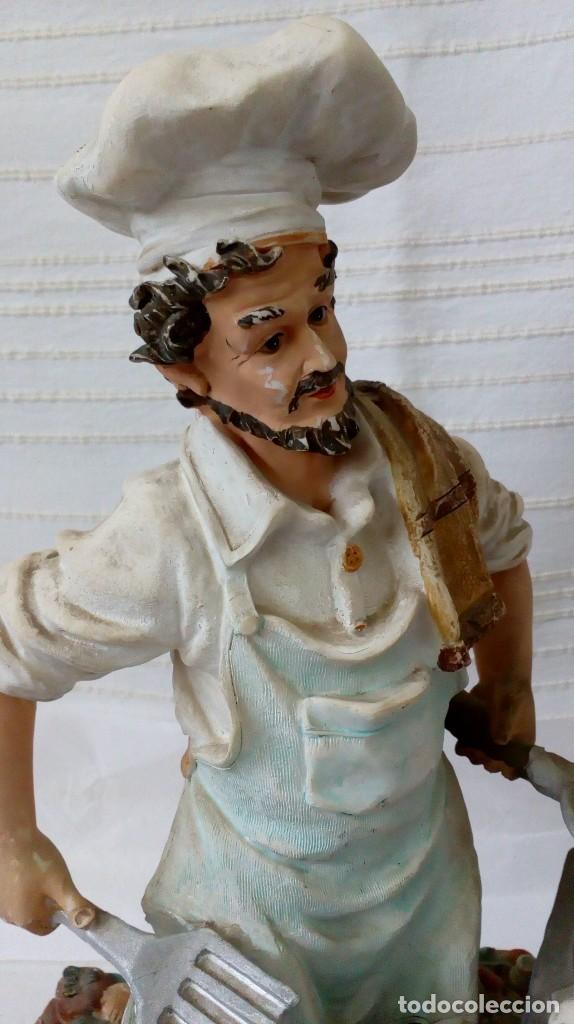 Arte: Figura de cocinero italiano en resina de Mike´s collection - Foto 7 - 127978819