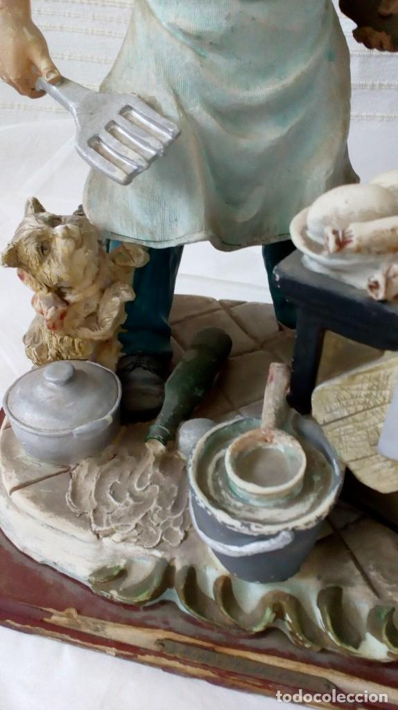 Arte: Figura de cocinero italiano en resina de Mike´s collection - Foto 8 - 127978819