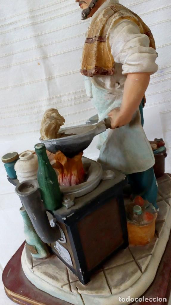 Arte: Figura de cocinero italiano en resina de Mike´s collection - Foto 14 - 127978819