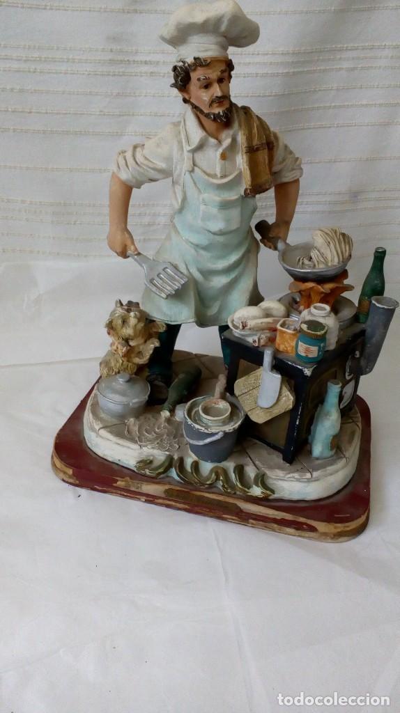 Arte: Figura de cocinero italiano en resina de Mike´s collection - Foto 15 - 127978819